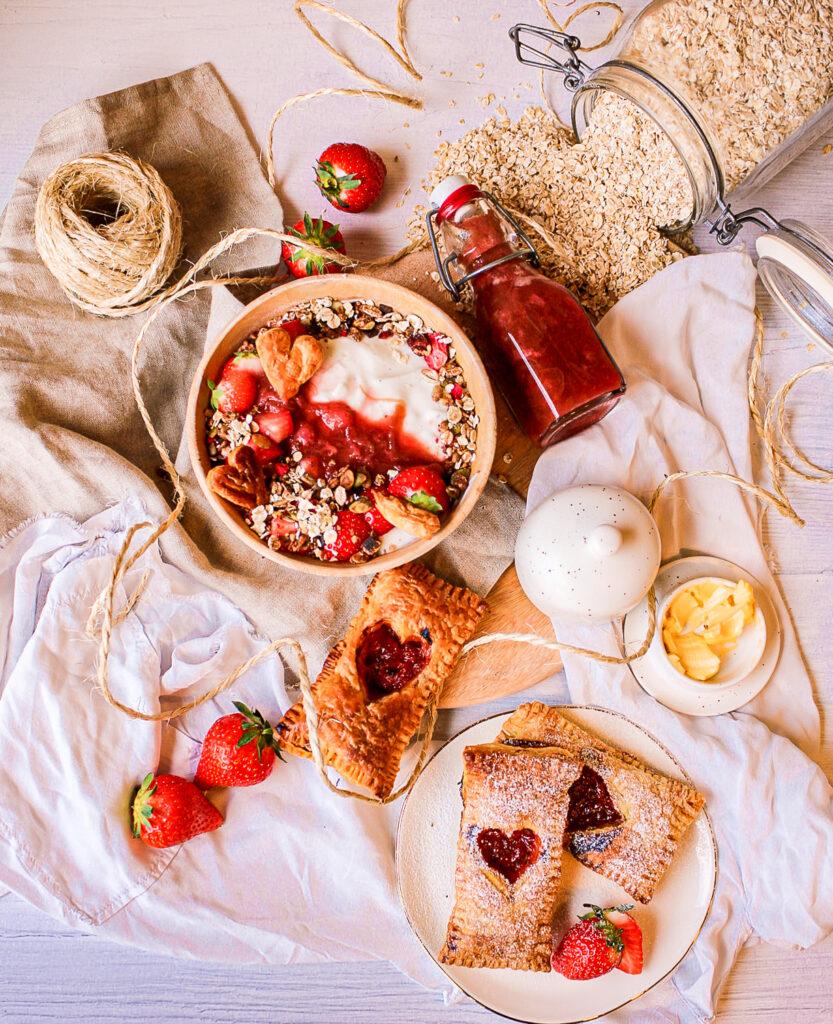 Aardbeien en rabarber