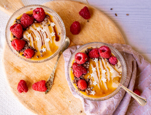 Hazelnoot, karamel cheesecake